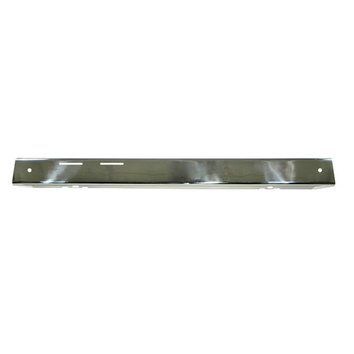 Rugged Ridge Front Bumper Overlay, Stainless Steel; 76-86 Jeep CJ Models 11109.01