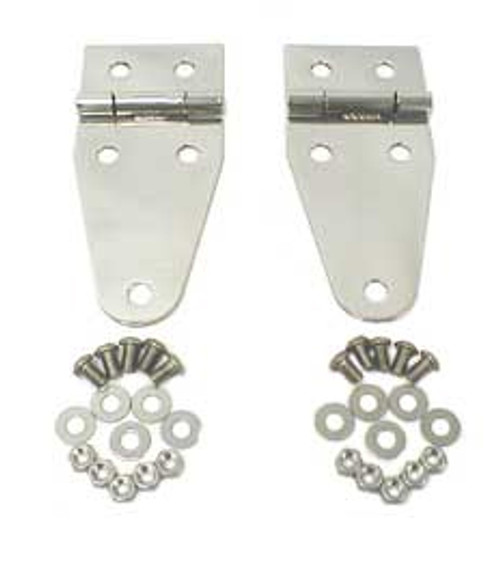 Rugged Ridge Hood Hinges, Stainless Steel; 76-95 Jeep CJ/Wrangler YJ 11111.01