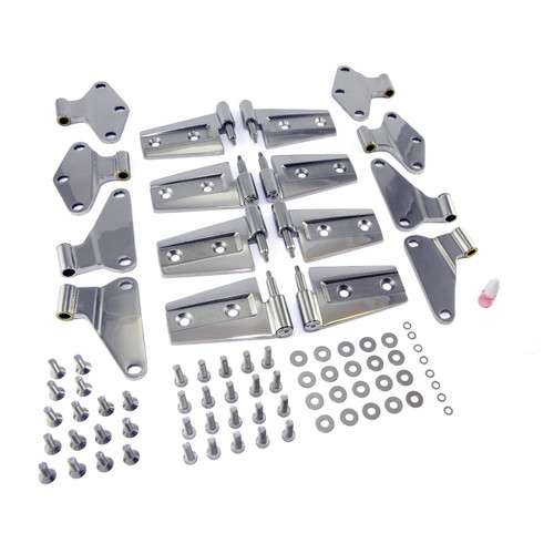 Rugged Ridge Door Hinge Kit, Stainless Steel; 07-16 Jeep Wrangler JKU 11111.21