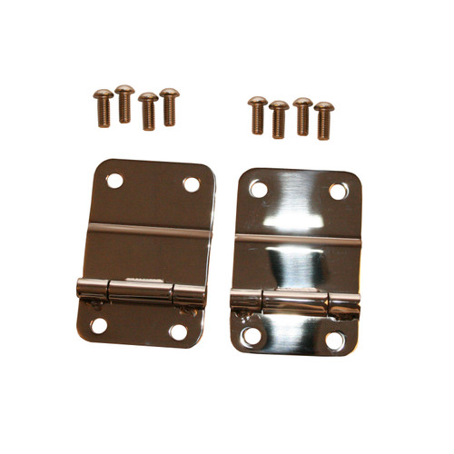 Rugged Ridge Tailgate Hinges, Stainless Steel; 76-86 Jeep CJ Models 11114.01