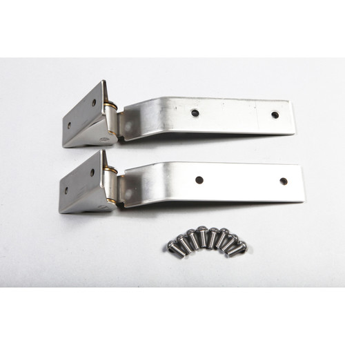 Rugged Ridge Tailgate Hinges, Stainless Steel; 87-95 Jeep Wrangler YJ 11114.02