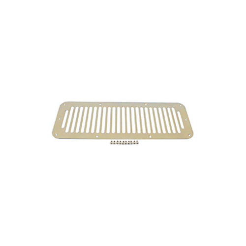 Rugged Ridge Cowl Vent Cover, Stainless Steel; 76-95 Jeep CJ/Wrangler YJ 11117.02