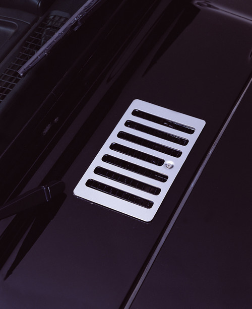 Rugged Ridge Cowl Vent Cover, Stainless Steel; 98-06 Jeep Wrangler TJ 11117.04