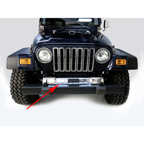 Rugged Ridge Front Frame Cover, Stainless Steel; 97-06 Jeep Wrangler TJ 11120.03