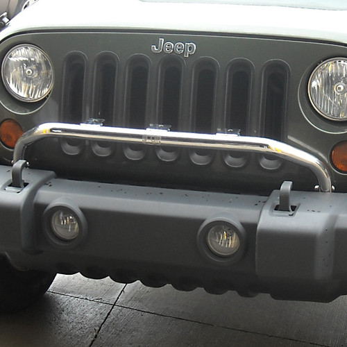Rugged Ridge Bumper Mounted Light Bar, Stainless Steel; 07-16 Jeep Wrangler JK 11138.20