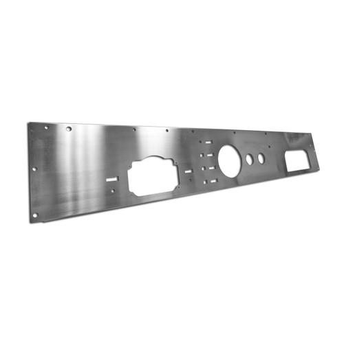 Rugged Ridge Dash Panel, Holes, Stainless Steel; 76-86 Jeep CJ Models 11144.11