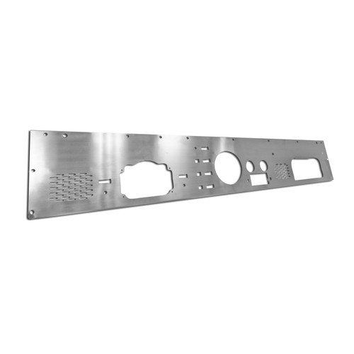 Rugged Ridge Dash Panel with Pre-Cut Holes, Stainless Steel; 76-86 Jeep CJ Models 11144.12
