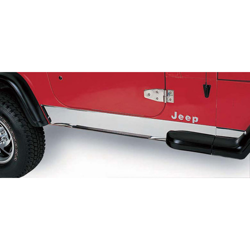 Rugged Ridge Rocker Panel Cover, Stainless Steel; 97-06 Jeep Wrangler TJ 11145.02