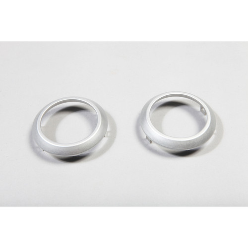 Rugged Ridge AC Vent Trim Rings, Brushed Silver; 07-10 Jeep Wrangler JK 11151.10