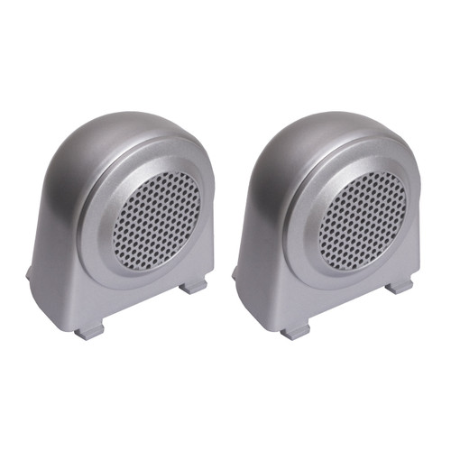 Rugged Ridge Tweeter Speaker Enclosures, Brushed Silver; 07-10 Jeep Wrangler JK 11151.11