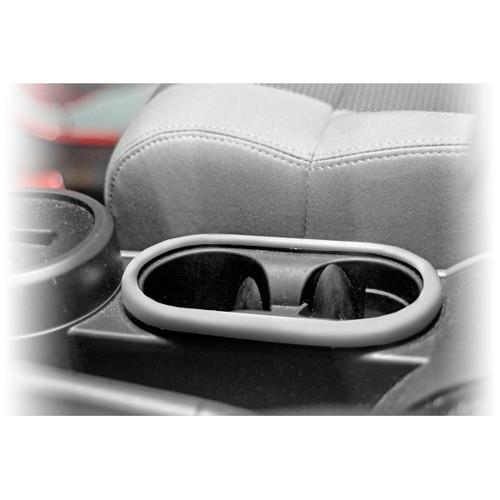 Rugged Ridge Front Cup Holder Trim, Brushed Silver; 07-10 Jeep Wrangler JK 11151.13