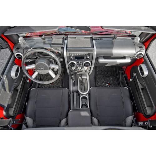 Rugged Ridge Interior Trim Accent Kit, Brushed Silver; 07-10 Jeep Wrangler JK 11151.92