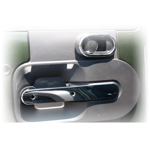 Rugged Ridge Rear Door Handle Trim, Chrome; 07-10 Jeep Wrangler JKU 11156.17