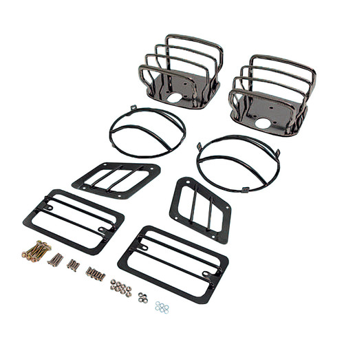 Rugged Ridge Euro Guard Kit, Black Chrome; 97-06 Jeep Wrangler TJ 11180.05