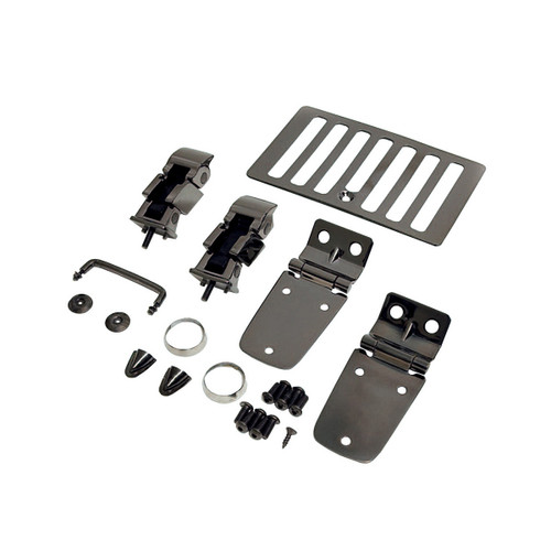Rugged Ridge Hood Kit, Black Chrome; 98-06 Jeep Wrangler TJ 11180.07