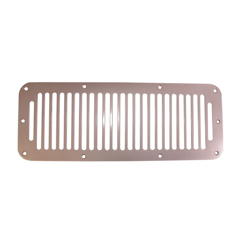 Rugged Ridge Cowl Vent Cover, Satin Stainless Steel; 78-95 Jeep CJ/Wrangler YJ 11185.06