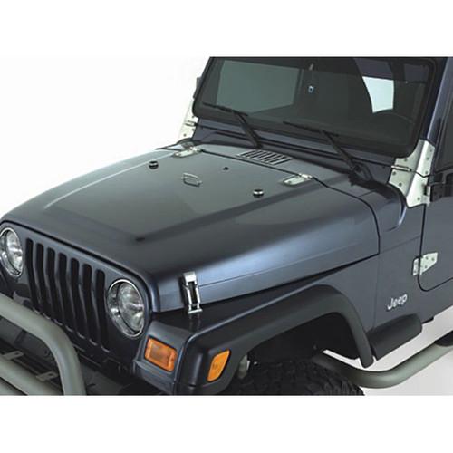 Rugged Ridge Complete Hood Kit, Satin Stainless Steel; 98-06 Jeep Wrangler TJ 11185.65