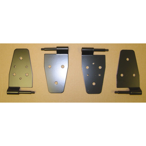 Rugged Ridge Door Hinge Kit, Black; 87-06 Jeep Wrangler TJ 11202.01
