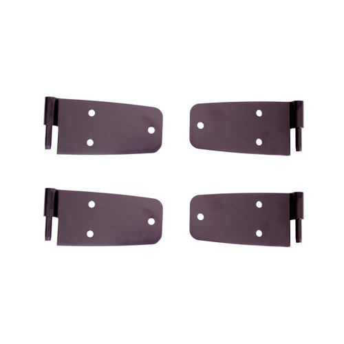 Rugged Ridge Door Hinge Kit, Black; 76-86 Jeep CJ Models 11202.02