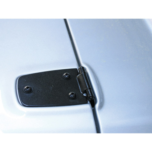 Rugged Ridge Hood Hinges, Black; 76-95 Jeep CJ/Wrangler YJ 11205.01