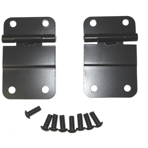 Rugged Ridge Lower Tailgate Hinge Set, Black; 76-86 Jeep CJ Models 11207.01