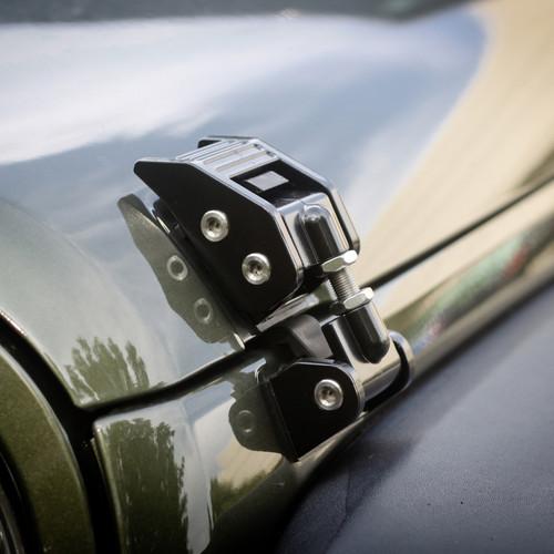 Rugged Ridge Hood Catches, Black; 07-16 Jeep Wrangler JK 11210.11