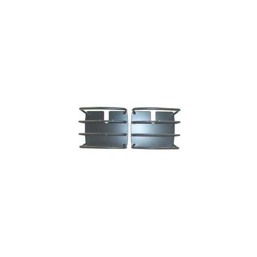 Rugged Ridge Euro Tail Light Guards, Black; 76-06 Jeep CJ/Wrangler YJ/TJ 11226.01