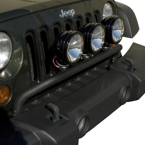 Rugged Ridge Bumper Mounted Light Bar, Textured Black; 07-16 Jeep Wrangler JK 11232.20