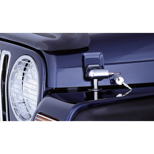 Rugged Ridge Locking Hood Catch Kit, Chrome; 97-06 Jeep Wrangler TJ 11302.03