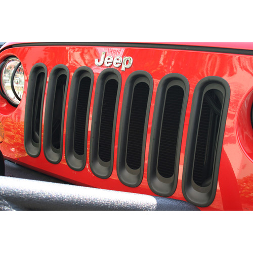 Rugged Ridge Grille Inserts, Black; 07-16 Jeep Wrangler JK 11306.30