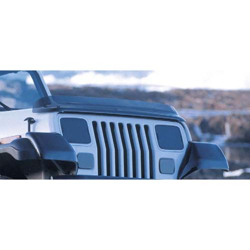 Rugged Ridge Bug Deflector, Smoke; 87-06 Jeep Wrangler YJ/TJ 11350.01