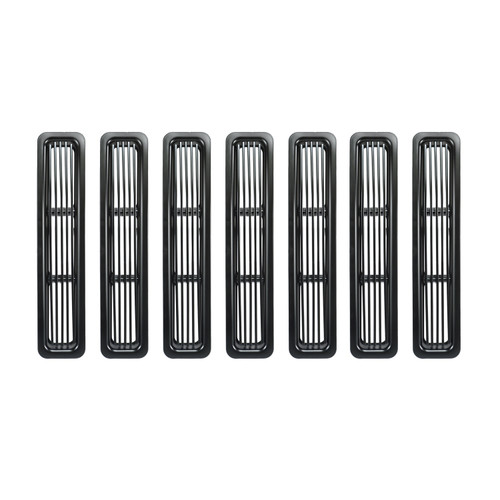 Rugged Ridge Billet Grille Inserts, Black; 97-06 Jeep Wrangler TJ 11401.03
