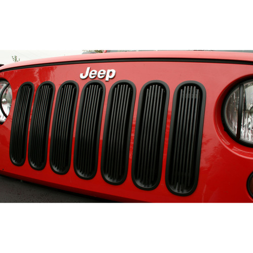 Rugged Ridge Billet Grille Insert, Black; 07-16 Jeep Wrangler JK 11401.30
