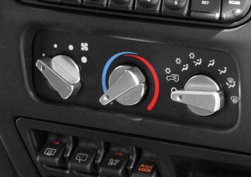 Rugged Ridge Aluminum Climate Control Knob Set, Red; 99-06 Jeep Wrangler TJ 11420.04