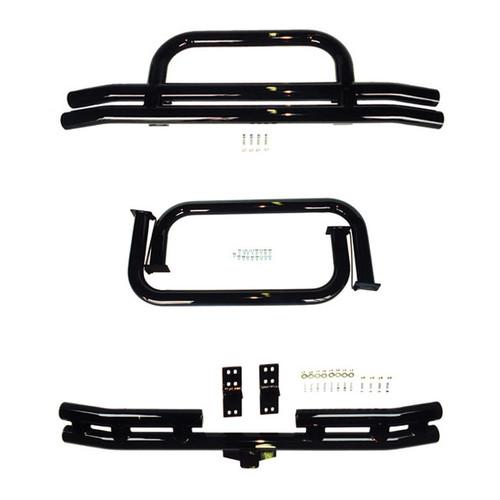 Rugged Ridge 3 Inch Tubular Bumper and Side Step Kit, Black; 76-86 Jeep CJ7/CJ8 11501.03