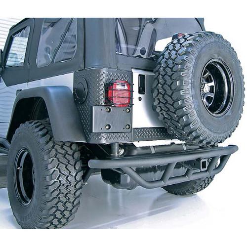 Rugged Ridge RRC Rear Bumper, 2 Inch Receiver Hitch; 87-06 Jeep Wrangler YJ/TJ 11503.12
