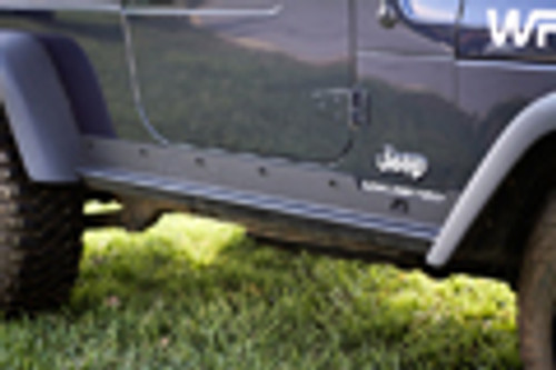 Rugged Ridge Heavy Duty Rocker Panel Guards; 97-06 Jeep Wrangler TJ 11504.15