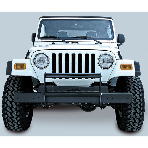 Rugged Ridge Brush Guard, Gloss Black; 97-06 Jeep Wrangler TJ 11511.02