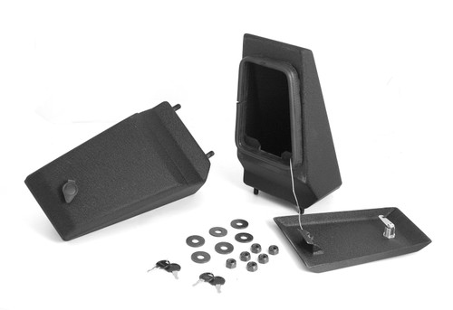 Rugged Ridge XHD Bumper Storage Ends, Textured Black; 76-06 Jeep CJ/Wrangler YJ/TJ 11540.43