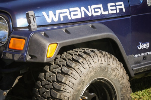 Rugged Ridge 4 Piece All Terrain Fender Flare Kit, 4.75 Inch; 97-06 Jeep Wrangler 11630.20