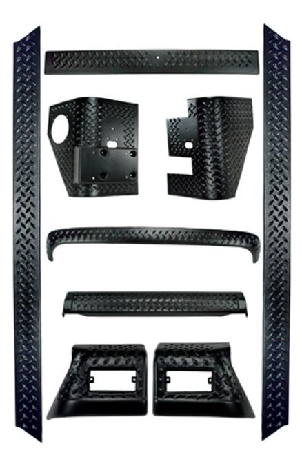 Rugged Ridge 9 Piece Full Body Armor Kit; 97-06 Jeep Wrangler TJ 11650.50