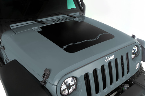 Rugged Ridge Hood Decal, Barbed Wire; 07-16 Jeep Wrangler JK 12300.12