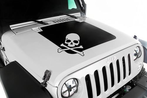 Rugged Ridge Hood Decal, Skull; 07-16 Jeep Wrangler JK 12300.13