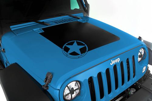 Rugged Ridge Hood Decal, Star; 07-16 Jeep Wrangler JK 12300.15