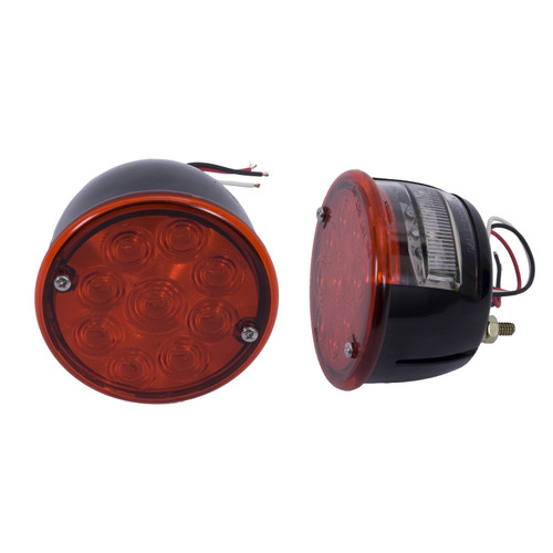 Rugged Ridge LED Tail Light Set; 46-75 Willys/Jeep CJ Models 12403.84