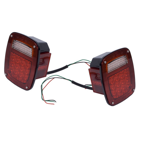 Rugged Ridge LED Tail Light Set; 76-06 Jeep CJ/Wrangler 12403.85