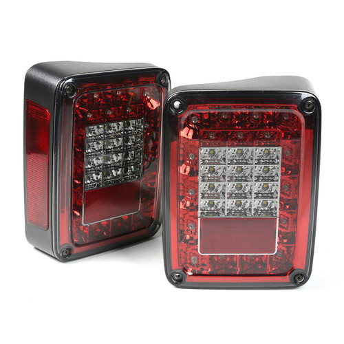 Rugged Ridge LED Tail Light Set, Smoke; 07-16 Jeep Wrangler JK 12403.88