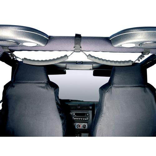 Rugged Ridge Rear Dual Grab Strap, Black; 87-06 Jeep Wrangler YJ/TJ 13305.05