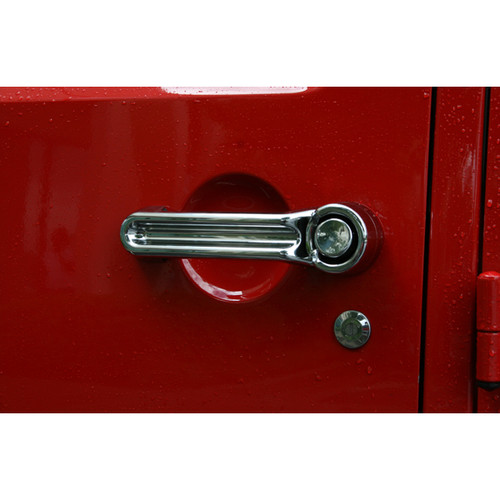 Rugged Ridge Door Handle Cover Kit, Chrome; 07-16 Jeep Wrangler JK 13311.11