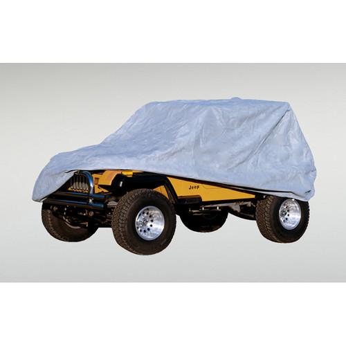 Rugged Ridge Weather Lite Full Jeep Cover; 76-95 Jeep CJ/Wrangler YJ 13321.51
